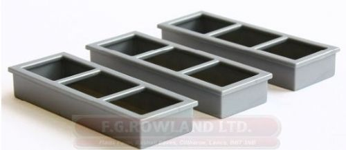 SET OF 6 TROUGHS